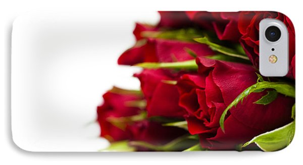 Red Roses Phone Case by Anne Gilbert