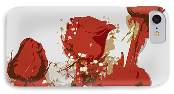 Red Roses IPhone Case by Karen Nicholson