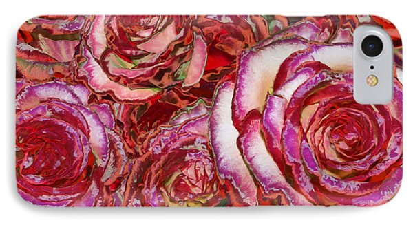 Red Roses Painting IPhone Case by Alixandra Mullins