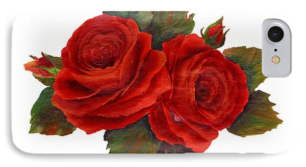 Red Roses IPhone Case by Pattie Calfy