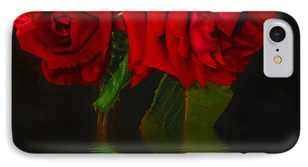 Red Roses Reflected IPhone Case by Joyce Dickens