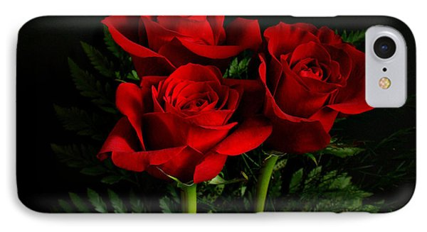 Red Roses Phone Case by Sandy Keeton