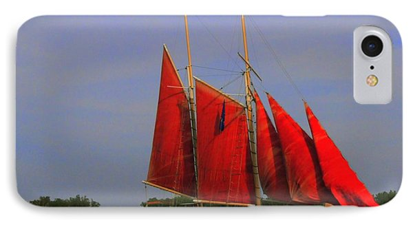 Red Sails Phone Case by Kathleen Struckle