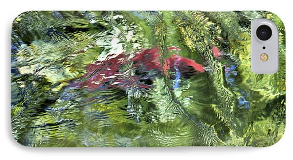 IPhone Case featuring the photograph Red Salmon In Steep Creek by Cathy Mahnke
