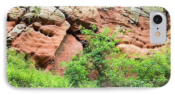 Red Sandstone Bluffs On The River Eden IPhone Case by Ashley Cooper
