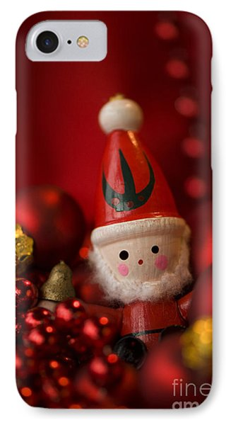 Red Santa Phone Case by Anne Gilbert