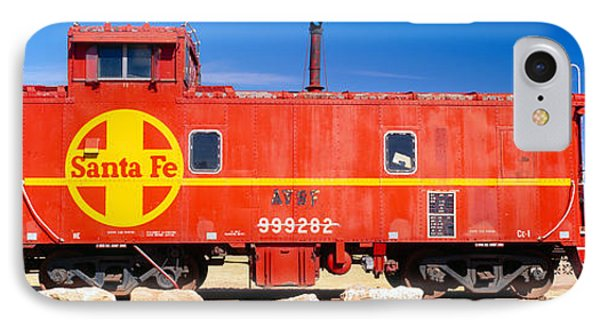 Red Santa Fe Caboose, Arizona IPhone Case by Panoramic Images