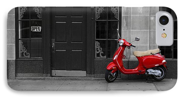 Red Scooter IPhone Case by Diane Diederich