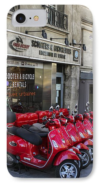 IPhone Case featuring the photograph Red Scooters by Glenn DiPaola