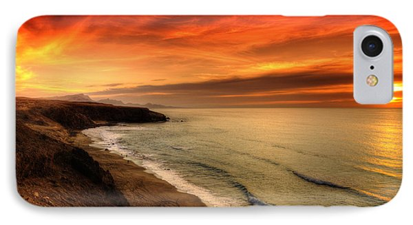 Red Serenity Sunset IPhone Case by Julis Simo