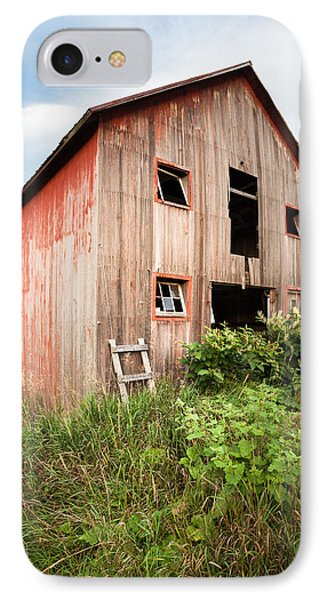 IPhone Case featuring the photograph Red Shack On Tucker Rd - Vertical Composition by Gary Heller