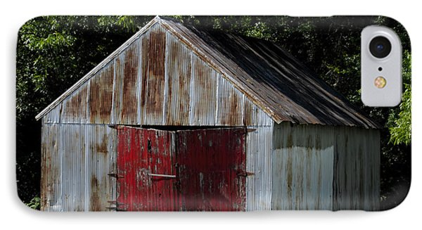 Red Shed IPhone Case by Ed Waldrop