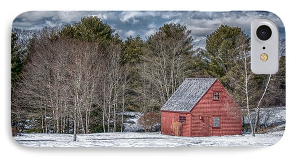 Red Shed In Maine Phone Case by Guy Whiteley