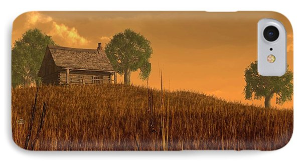 Red Skies At Night IPhone Case by Daniel Eskridge