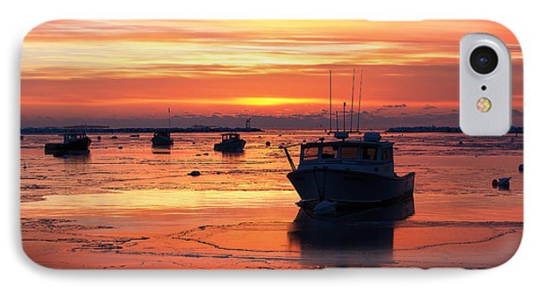 Red Skies In Rye IPhone Case by Eric Gendron