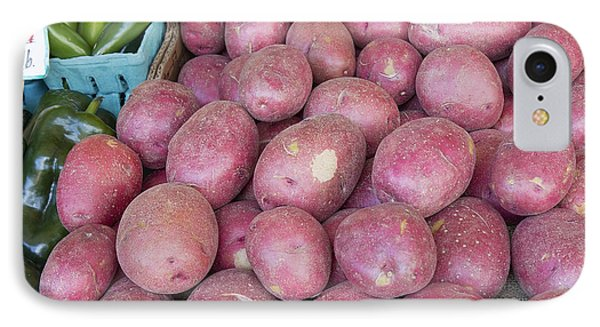 Red Skin Potatoes Stall Display Phone Case by Jit Lim