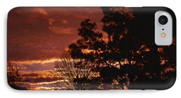 Red Sky At Night Phone Case by Cris Hayes