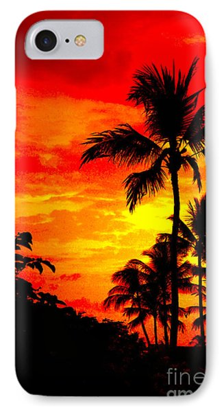 Red Sky At Night IPhone Case by David Lawson