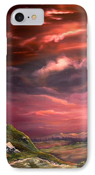 Red Sky At Night IPhone 7 Case by Jean Walker