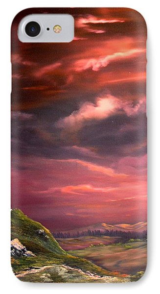 Red Sky At Night IPhone Case by Jean Walker