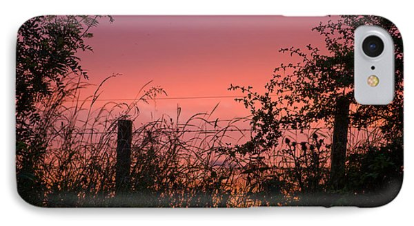 Red Sky At Night IPhone Case by Liz  Alderdice