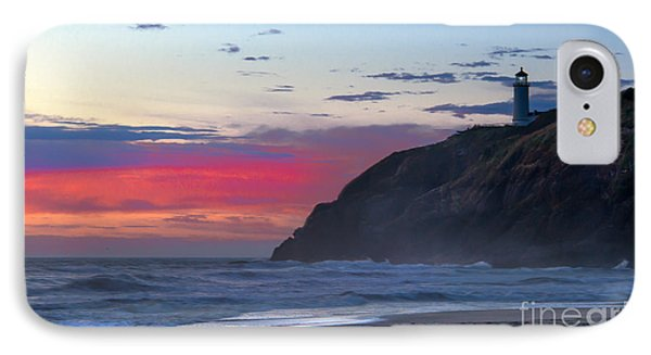 Red Sky At North Head Lighthouse IPhone Case by Robert Bales