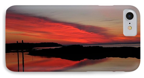 Red Sky In Morning IPhone Case by Donnie Freeman