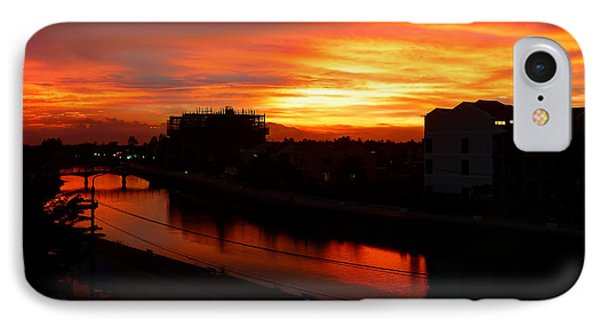 IPhone Case featuring the photograph Red Sky by Kim Andelkovic