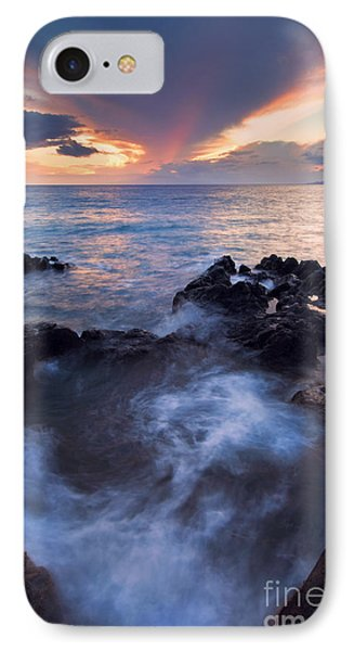 Red Sky Over Lanai IPhone Case by Mike  Dawson