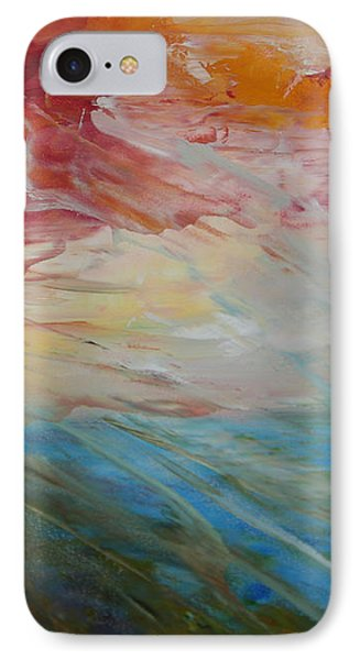 IPhone Case featuring the painting Red Sky by Sandra Nardone