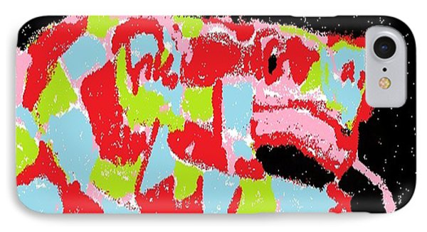 IPhone Case featuring the digital art Red Snake Nebula by Don Koester
