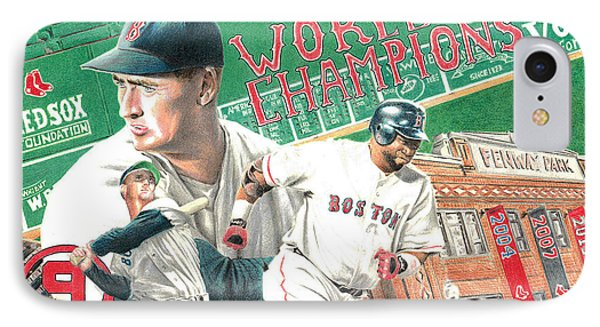 Red Sox World Champions IPhone Case by David Vieyra