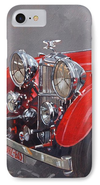 Red Sp 25 Alvis  IPhone Case by Peter Miller