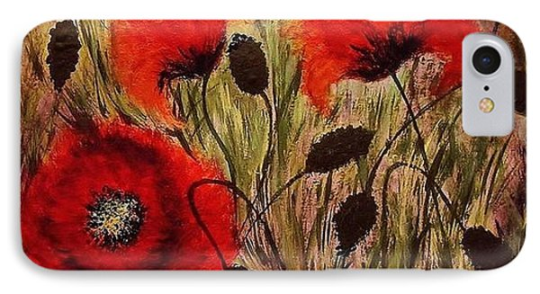 IPhone Case featuring the painting Red Sparks... by Cristina Mihailescu