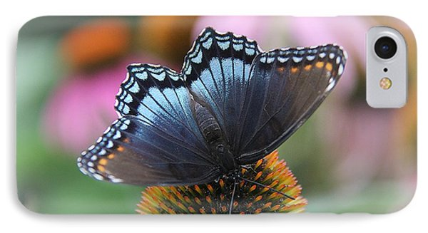Red Spotted Admiral Butterfly IPhone Case by Yumi Johnson