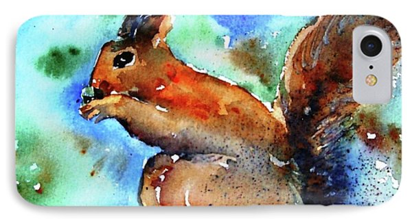 IPhone Case featuring the painting Red Squirrel  by Trudi Doyle