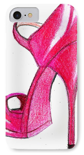 Red Stiletto IPhone Case by Loretta Nash