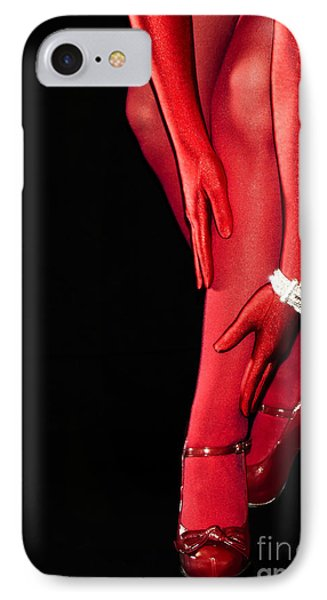 Red Stockings02 Phone Case by Svetlana Sewell