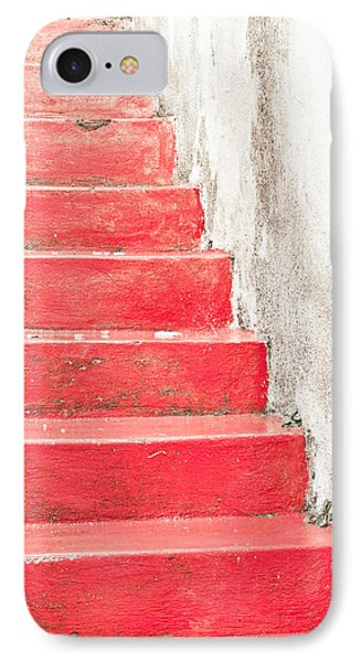 Red Stone Steps IPhone Case by Tom Gowanlock