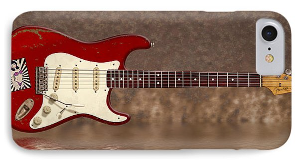 Red Strat 3 IPhone Case by WB Johnston