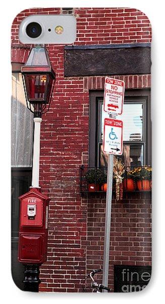 Red Street In Boston Phone Case by John Rizzuto