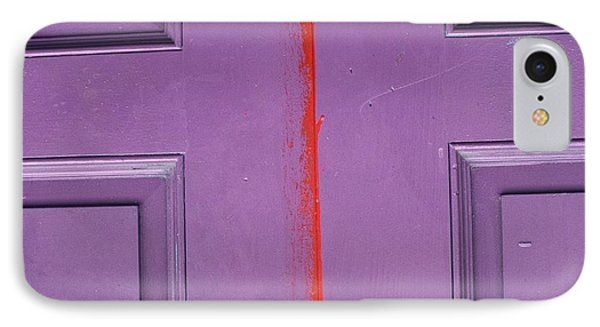 Red Stripe IPhone Case by Peggy Stokes