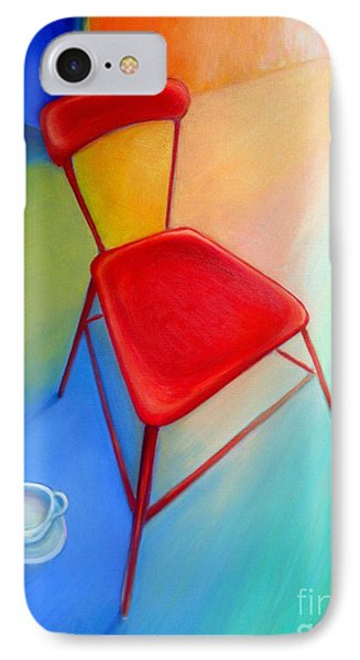 Red Studio Chair IPhone Case by Frederick  Luff