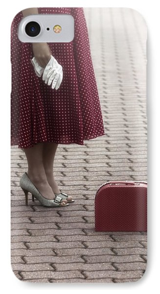 Red Suitcase Phone Case by Joana Kruse
