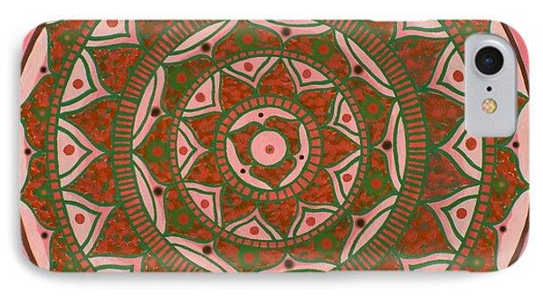 Red Sun Mandala Phone Case by Vlatka Kelc