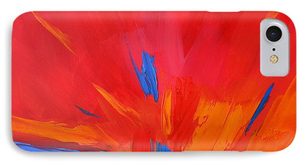 Red Sunset Modern Abstract Art IPhone Case