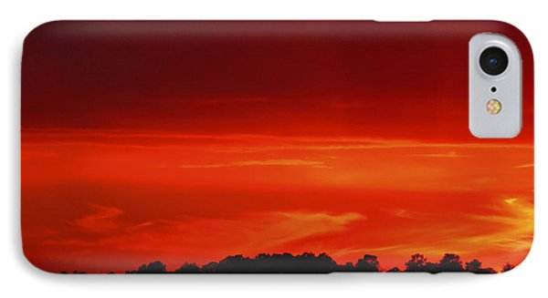 Red Sunset IPhone Case by Debra Crank