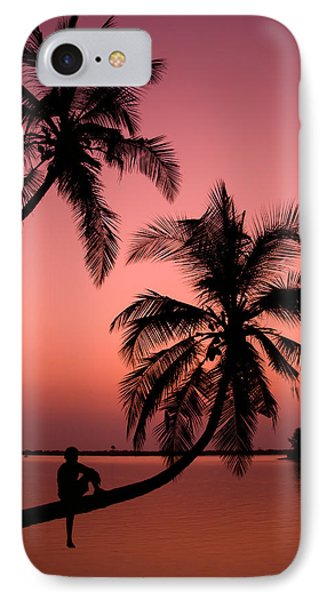 Red Sunset In The Tropics IPhone Case