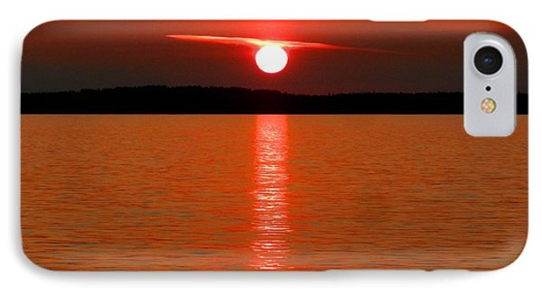 IPhone Case featuring the photograph Red Sunset Over Bellingham Bay by Karen Molenaar Terrell