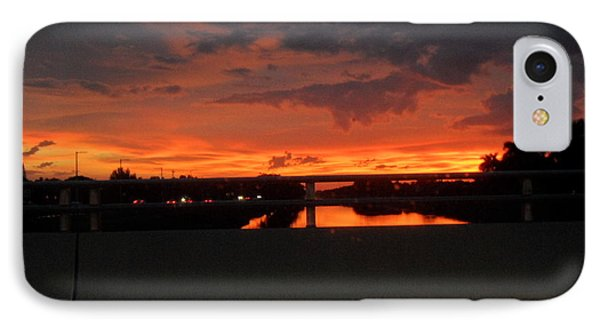 Red Sunset IPhone Case by Val Oconnor
